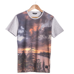 HollyHood - Only & Sons Ons Land O Neck Gri T-shirt