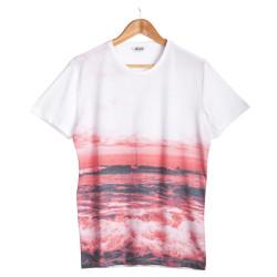 HollyHood - Only & Sons - Oxias Gün Batımı Beyaz T-shirt