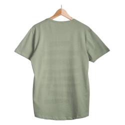 Only & Sons - Siyah Şeritli Yeşil T-shirt - Thumbnail