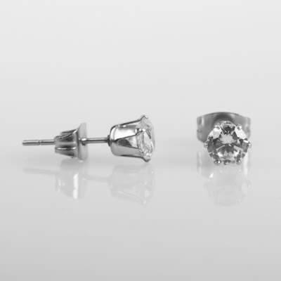 HollyHood - Oval Taşlı Mini Çift Küpe