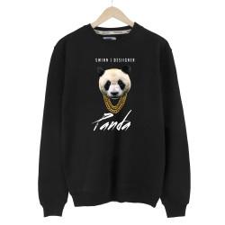 The Street Design - HH - Panda Designer Siyah Sweatshirt