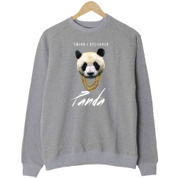 The Street Design - HH - Panda Designer Gri Sweatshirt