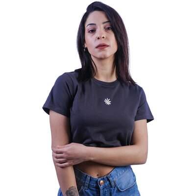 HollyHood - Papatya Desenli Crop Bluz