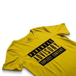 HH - Parental Advisory Sarı T-shirt - Thumbnail