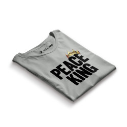 HH - Peace King Gri T-shirt - Thumbnail