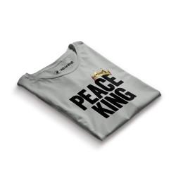 HH - Peace King Gri T-shirt - Thumbnail
