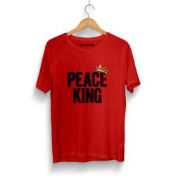 HH - Peace King Kırmızı T-shirt - Thumbnail