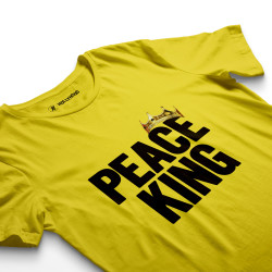 HH - Peace King Sarı T-shirt - Thumbnail