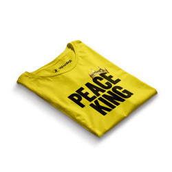 HH - Peace King Sarı T-shirt - Thumbnail