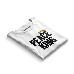 HH - Peace King Beyaz T-shirt - Thumbnail