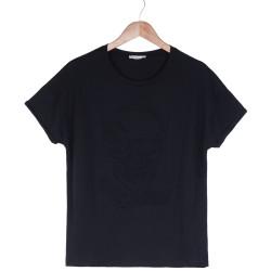 HollyHood - Rock & Love Kadın Siyah T-shirt