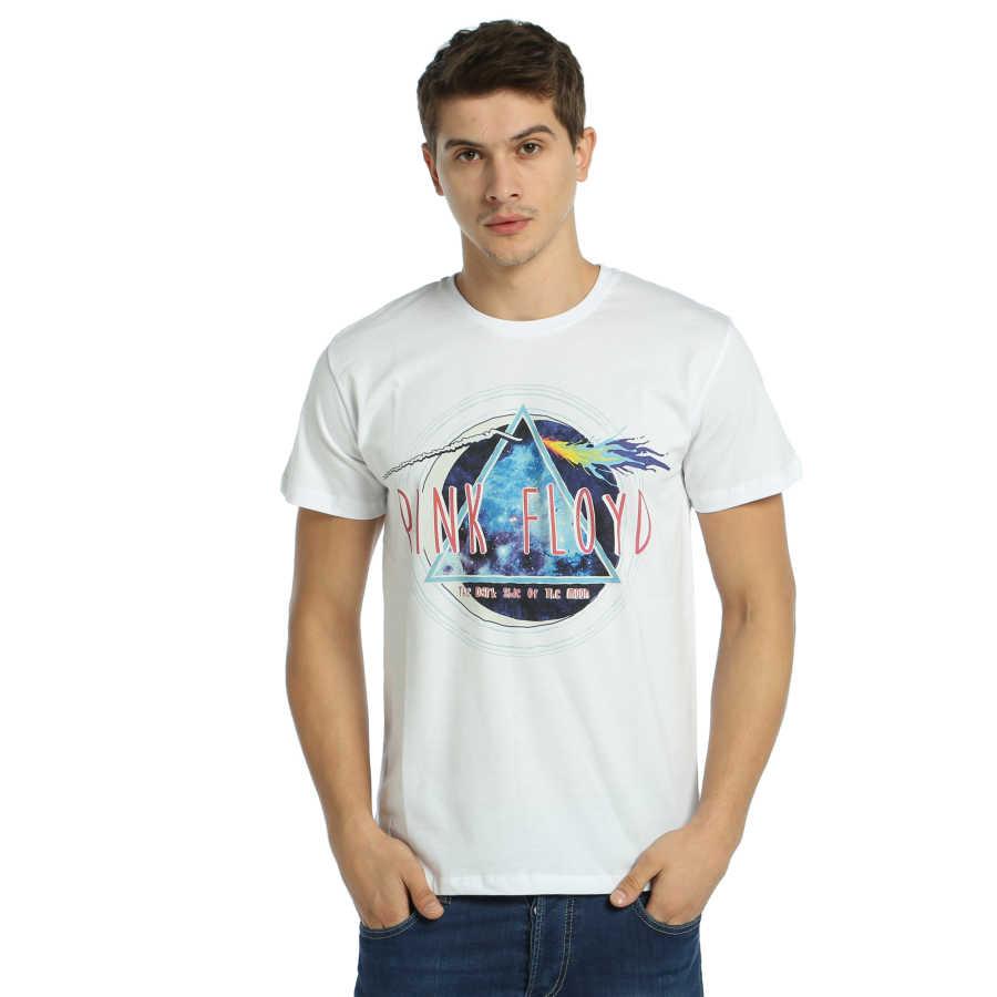 Bant Giyim - Pink Floyd The Dark Side Of The Moon Beyaz T-shirt