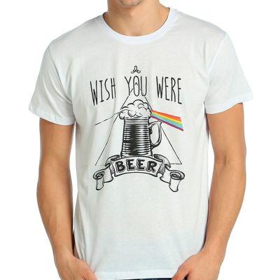 Bant Giyim - Bant Giyim - Pink Floyd Beer Beyaz T-shirt