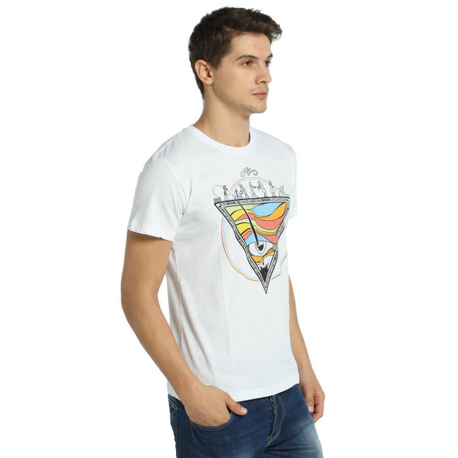 Bant Giyim - Piramit Beyaz T-Shirt