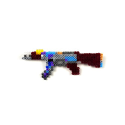 HollyHood - Pixel Art AK-47 Case Hardened Rozet