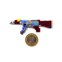 Pixel Art AK-47 Case Hardened Rozet - Thumbnail