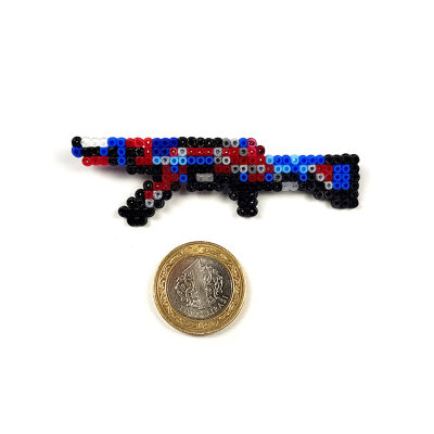 Pixel Art AK-47 Point Disarray Rozet