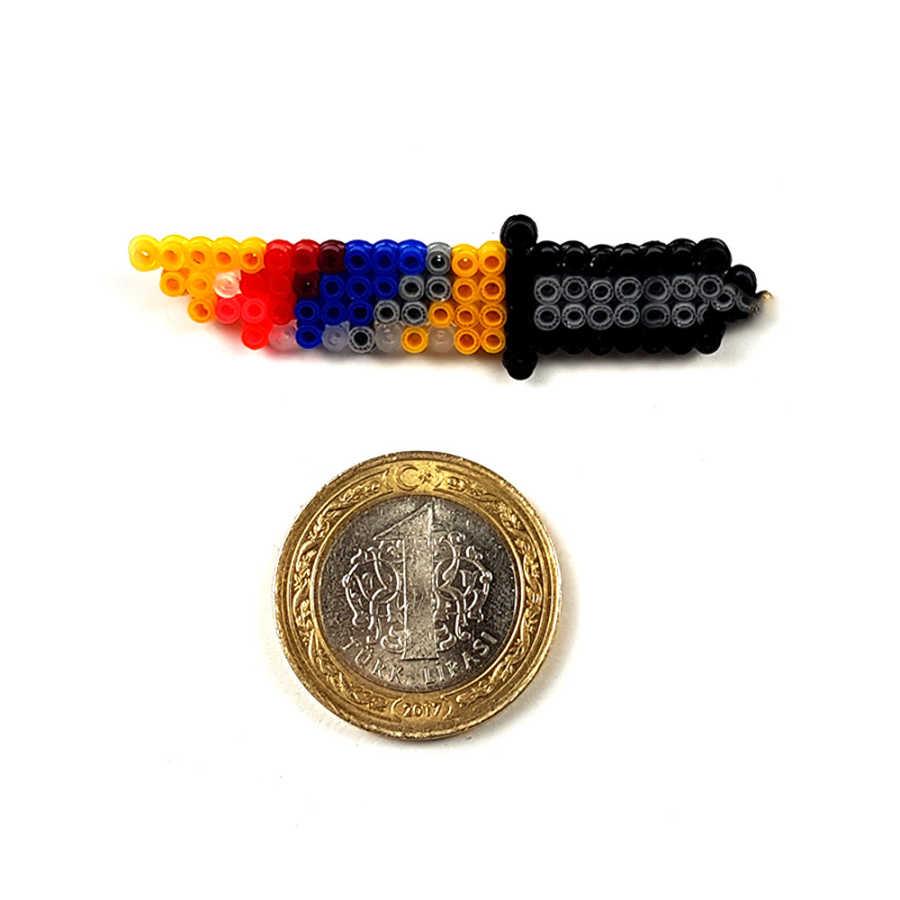 Pixel Art Bayonet Marble Fade Rozet - XS