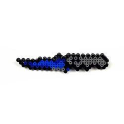 Pixel Art Flip Knife Doppler Rozet - Thumbnail