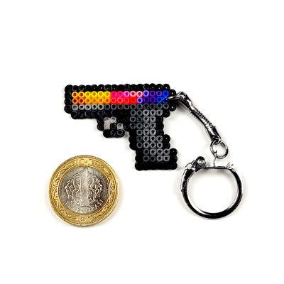 Pixel Art Glock-18 Fade Anahtarlık