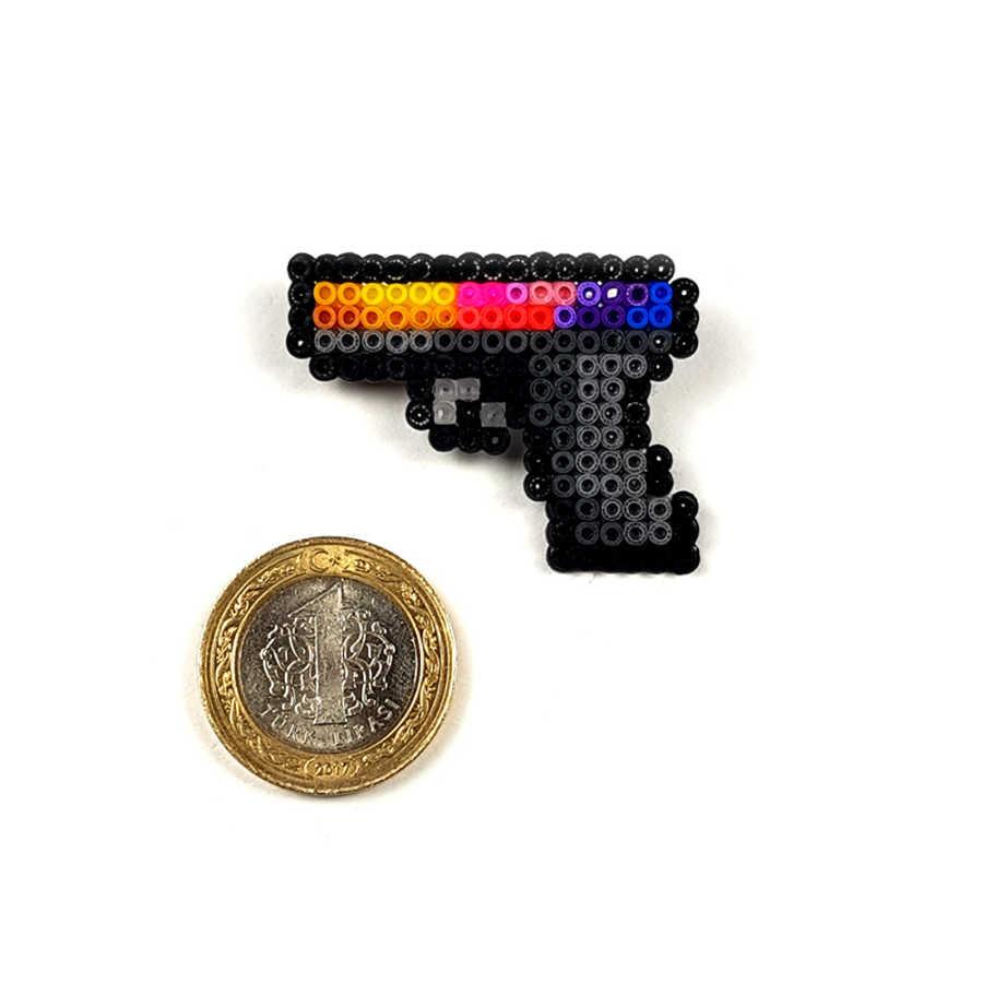 Pixel Art Glock-18 Fade Rozet - XS