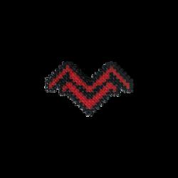 HollyHood - Pixel Art Mithrain Logo Rozet