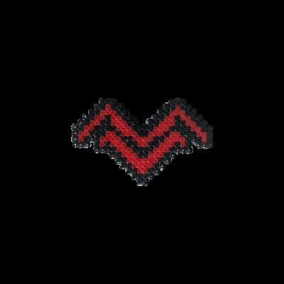 Pixel Art Mithrain Logo Rozet