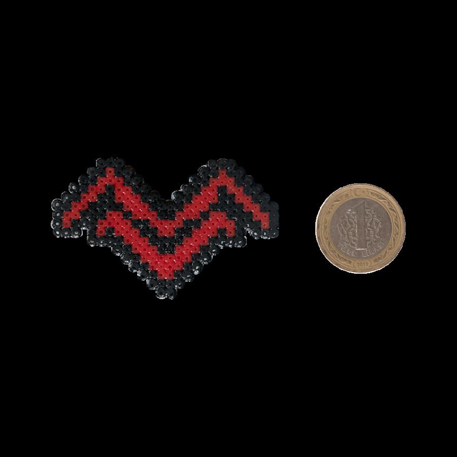 Pixel Art Mithrain Logo Rozet - Siyah