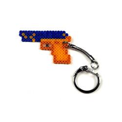HollyHood - Pixel Art P2000 -Lacivert-Sarı Anahtarlık