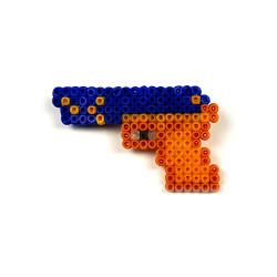 HollyHood - Pixel Art P2000 -Lacivert-Sarı Rozet