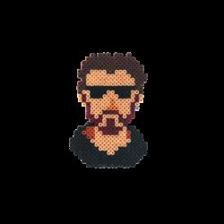 Wtcnn - Pixel Art Wtcnn Portre Rozet