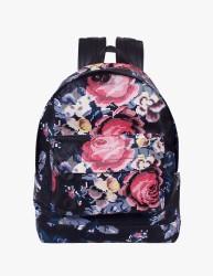 Pixel Floral Deri Sırt Çantası Gül Desen - Thumbnail