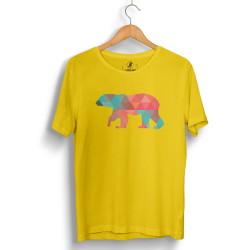 HH - Street Design Pole Bear Sarı T-shirt - Thumbnail