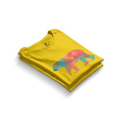 HH - Street Design Pole Bear Sarı T-shirt