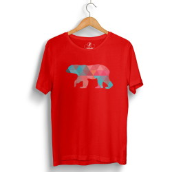 The Street Design - HH - Street Design Pole Bear Kırmızı T-shirt