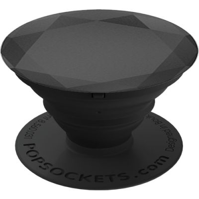 PopSockets Black Metallic Diamond Telefon Tutacağı