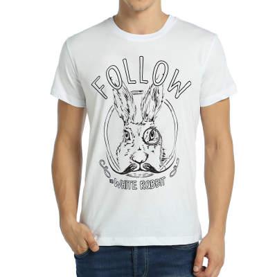 Bant Giyim - Follow White Rabbit Beyaz T-shirt
