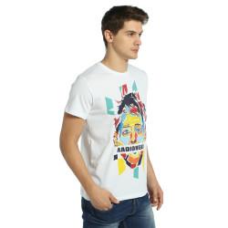 Bant Giyim - Radiohead Thom Yorke Beyaz T-shirt - Thumbnail