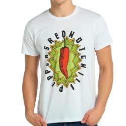 Bant Giyim - Red Hot Chili Peppers Beyaz T-shirt - Thumbnail