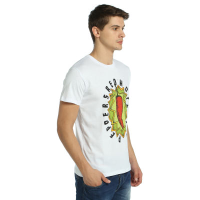 Bant Giyim - Red Hot Chili Peppers Beyaz T-shirt
