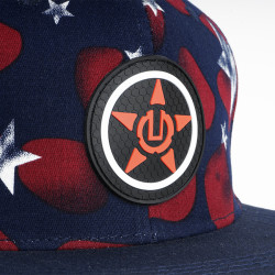 Red Star - Red and Blue Hip Hop Snapback Cap - Thumbnail