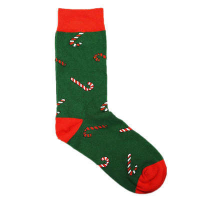 HollyHood - SA - Renkli Baston Yeşil Çorap
