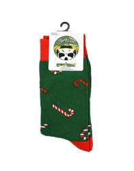 HollyHood - SA - Renkli Baston Yeşil Çorap (1)
