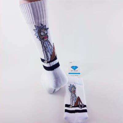 Rick and Morty Beyaz Çorap