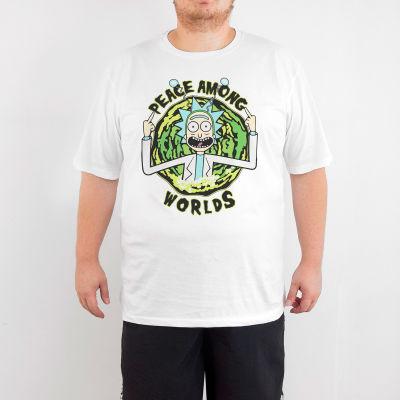 Bant Giyim - Rick And Morty Peace Among Worlds 4XL Beyaz T-shirt