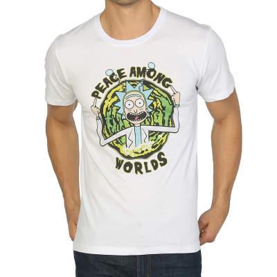 Bant Giyim - Bant Giyim - Rick And Morty Peace Among Worlds Beyaz T-shirt