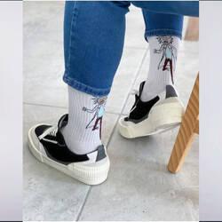 Rick Beyaz Çorap - Thumbnail