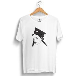 HollyHood - HollyHood - Rihanna Portre Beyaz T-shirt