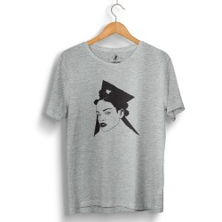 HollyHood - HollyHood - Rihanna Portre Gri T-shirt