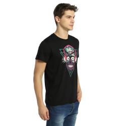 Bant Giyim - Stereo Skull Siyah T-shirt - Thumbnail